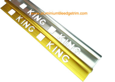 Quadrant Wall Tile Metal Trim Aluminium Edging Strip With King Punching Holes